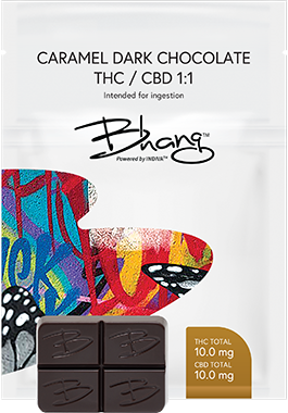 Caramel Dark Chocolate THC/CBD 1:1