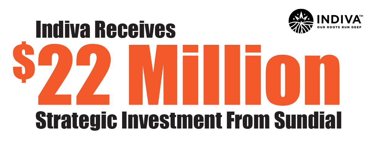 Press Release – Sundial and Indiva Announce $22 Million Strategic Investment